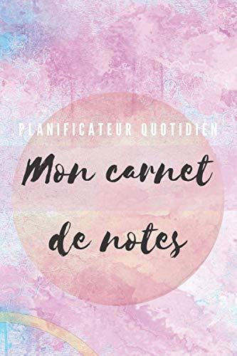 Carnet de note :planificateur quotidien Couverture Tendance 2021: Format 15,54 cm x 23,46 cm Mon Carnet de notes Edition New champion nouveau Design Octobre 2020