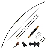 TOPARCHERY 67' Traditional Longbow 30-70lbs Takedown Recurve Bow Hunting English Longbow for Right Hand Left Hand Adult Outdoor Practice (70)