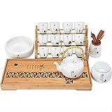Olla de viga de cerámica simple juego de té casero teacout tetera set set de té set de 12 tazas.
