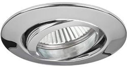 Brumberg 1963.07 Weißer Recessed Lighting Spot geeignet für den Innenbereich GX5.3 - Lichtpunkt (Recessed Lighting Spot, GX5.3, 1 Lampen, Halogen, 50 W, weiß