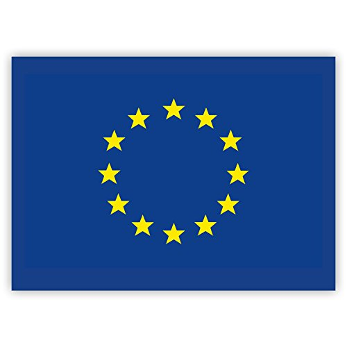 10 x Aufkleber Europa-Flagge, 7,4 x 5,2 cm für innen und außen