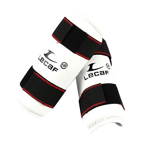 lecaf Protector de antebrazo Guardia artes marciales Taekwondo Sparring Gear lcaf16, blanco