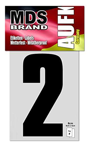8cm Zahlenaufkleber Klebezahlen Selbstklebend Aufkleber und Nummer Etiketten Schwarz (2)