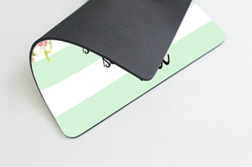 Smooffly Gaming Mouse Pad Custom,She Believed She Could Mint Stripe Mouse Pad - Neoprene Inspirational Quote Mousepad Photo #3