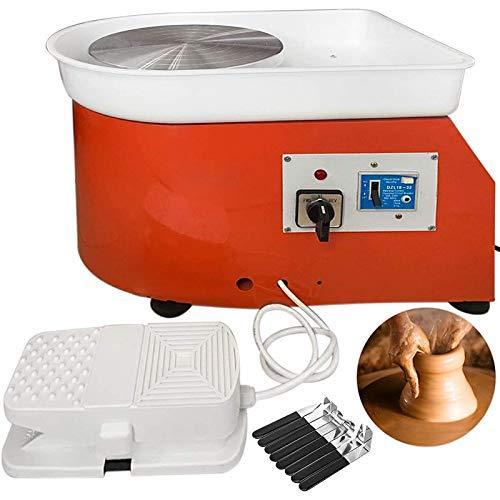 ZSCKJ Torno de alfarero para hacer tú mismo con pedales de pie y lavabo extraíble, herramienta de moldeo de cerámica