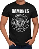 Ramones 'Hey Ho Let's Go'Band T-Shirt (Ladies Fitted Medium) Black