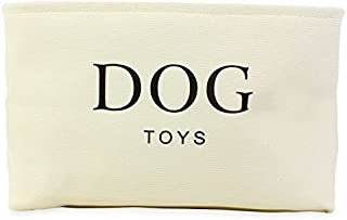 White Canvas Basket Dogs Storage
