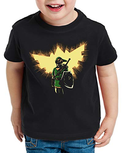 style3 Link T-Shirt für Kinder elda SNES NES Legend Ocarina, Größe:152
