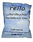 20x 450g reilo Luftentfeuchter Granulat (Calciumchlorid) im Vliesbeutel - Nachfüllpack für Raumentfeuchter ab 400g