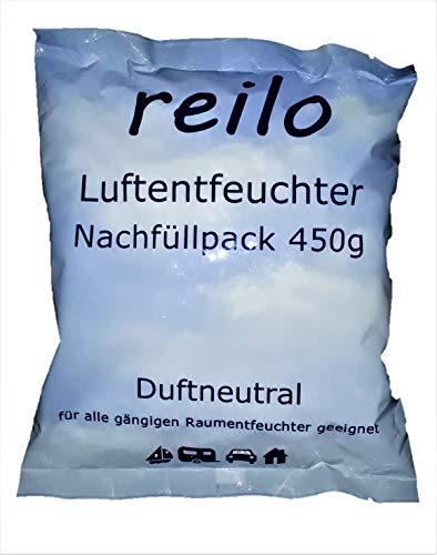 15x 450g reilo Luftentfeuchter Granulat (Calciumchlorid) im Vliesbeutel - Nachfüllpack für Raumentfeuchter ab 400g