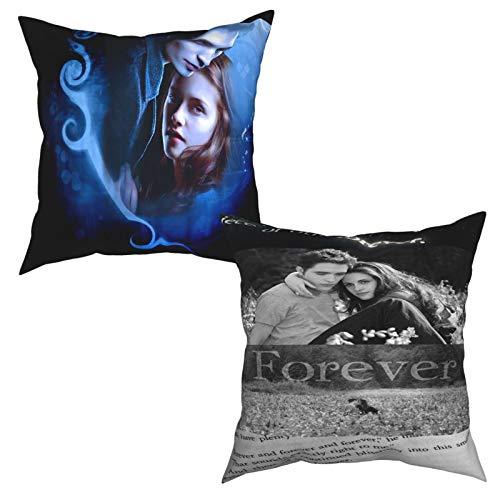 GAGADUCK The Twilight Saga Throw Pillow Covers Decorative Cotton Linen Square Outdoor Cushion Cover Sofa Home Pillow Covers Set of Two