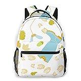 Lawenp Mode Unisex Rucksack Gummistiefel Schuh Druckmuster Bookbag Leichte Laptoptasche für Schulreisen Outdoor Camping