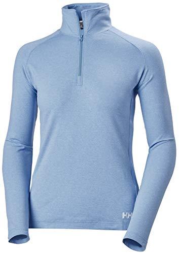 Helly Hansen W Verglas 1/2 Zip Camiseta, Mujer, Skagen Azul, S