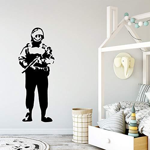 Soldado vinilo etiqueta de la pared decoración de la pared dormitorio del niño decoración de la habitación arte de la pared calcomanía pegatina Mural A1 M 30x78cm