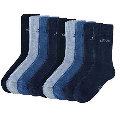 s.Oliver Junior Socken 9er Pack, Größe:31-34, Farbe:Blue (0030)
