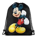 XCNGG Bolsa con cordón Bolsa con cordón Bolsa portátil Bolsa de Gimnasio Bolsa de Compras Classic Drawstring Bag-Happy Mouse Gym Backpack Shoulder Bags Sport Storage Bag for Man Women