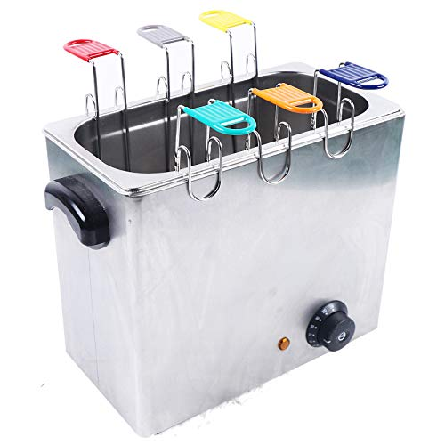Cocedor de huevos eléctrico comercial de 2600 W, 30 unidades por tiempo, acero inoxidable, con 6 cestas para huevos, rápido y cómodo, 30 ℃ - 110 ℃