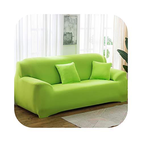 Sofa Covers - Funda de sofá 1/2/3/4 plaza, cubierta elástica para sala de estar spandex Seccional color liso – Color 24-3-Seat 190-230 cm