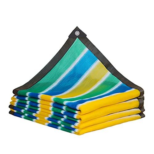 ZRY Toldos para Patio Velas de Sombra Malla Sombra Bloqueador Solar Diseño de Rayas, Patio Piscina Red de Aislamiento, Personalizable (Size : 2x5m)