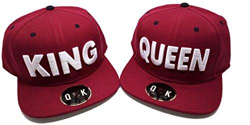 Snapback King & Queen (King, Burdeos)