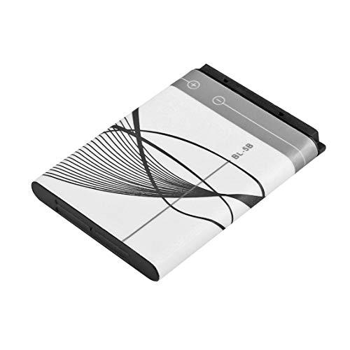 Spezifische 3,7 V 890 mAh BL-5B BL5B Akku für Nokia N90 3230 5300 5070 6121 6080 Li-On-Batterien - Grau + Weiß