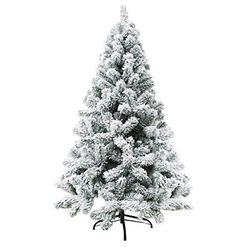Bascar - Albero di Natale artificiale con neve bianca, circa 600/800/1020 punte, albero di Natale ignifugo con montaggio rapido, con supporto per albero di Natale incluso s