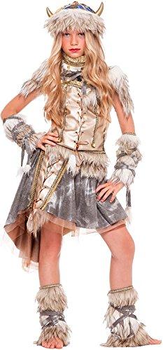chiber Disfraces Disfraz de Guerrera Vikinga para Niña (Talla 8)