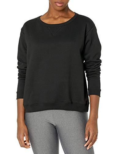 Hanes Women's EcoSmart Crewneck Sweatshirt, Ebony, X-Large