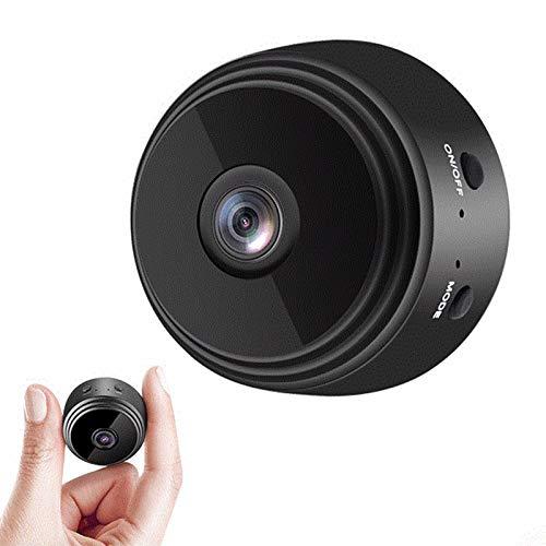 TONG 1080 p HD IP mini cámara, WiFi inalámbrico seguridad control remoto vigilancia visión nocturna oculta cámara de detección móvil negro