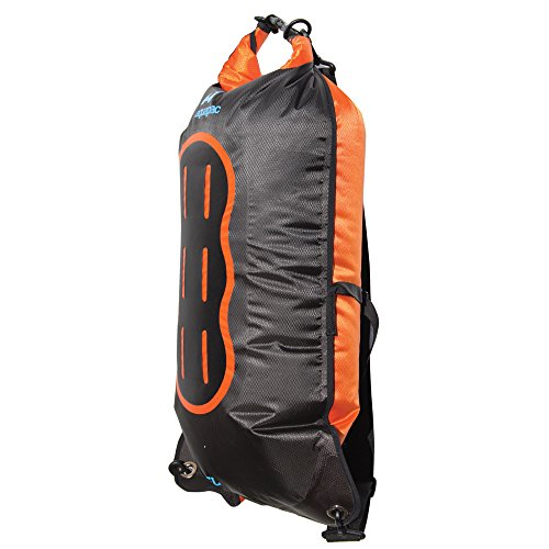 AQUAPAC wasserdichter Beutel Noatak Wet & Dry, schwarz-orange, 15 liters, 768