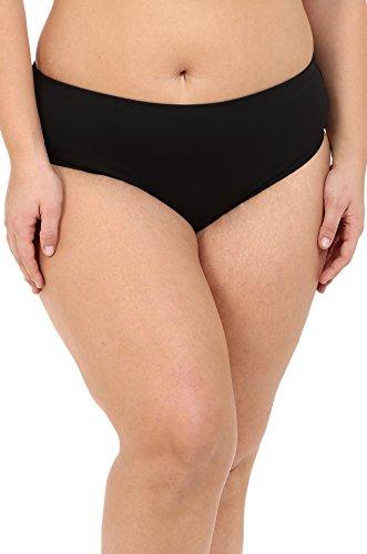 BECCA by Rebecca Virtue Women's Plus Size Becca ETC Caravan Solid Full Pants Black Swimsuit Bottoms 1X (16W-18W Women's)