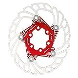 Yagosodee Disco Freno per Bici Mountain Bike Rotori di Raffreddamento Flottanti Pastiglia Freno a Disco 5 Perni 140Mm Accessorio per Ciclismo Rosso