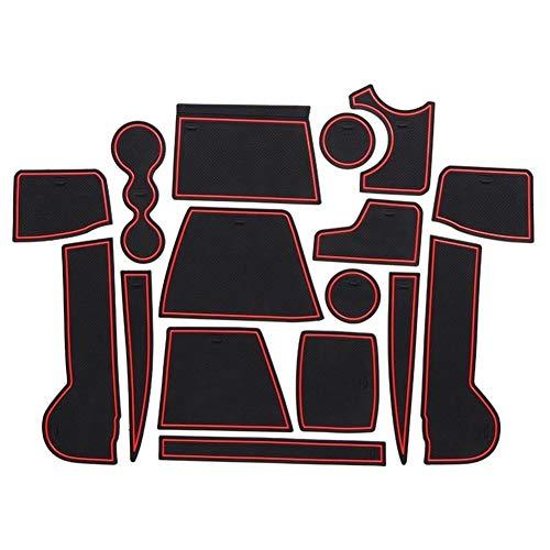 YUNJINGCHENMAN Tienda Accessories For 2017 Volkswagen Tiguan Goma Puerta Mat Antideslizante de la Taza del cojín Interior Decoración de Accesorios Styling Puerta del cojín de la Ranura