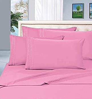 Elegant Comfort 2-Piece 1500 Thread Count Egyptian Quality Hypoallergenic Ultra Soft Wrinkle Fade Stain Resistant Pillowcases Standard Size Light Pink