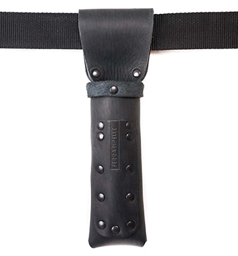 Port Metro Bois - noir, cuir Vero, rivets bleui, ceinture inclus