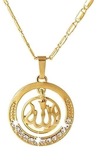 Yiffshunl Collar Collar de Estilo religioso del Medio Oriente Collar con Colgante Deslizante Collar de joyería Tricolor para Hombres y Mujeres