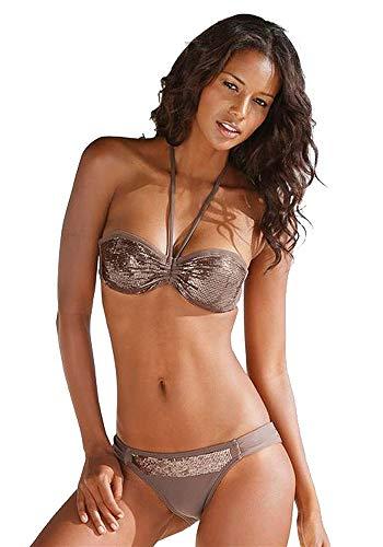 Bruno Banani Beach Bade-Bikini Roulette milchkaffee Größe A/B36