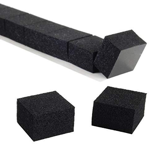 Schaumstoffpads | Abstandshalter | Einseitig klebend & elastisch | Schwarz | 20 x 20 mm | 12 mm Dicke | 10 oder 100 Stück