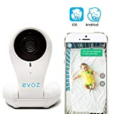 Evoz Vision Wi-Fi Video Baby Monitor with Updated Evoz Baby App [2019] for iOS and Android | Unlimited Range | Cry Detection | Night Vision | Talk Back | HD Smart Camera