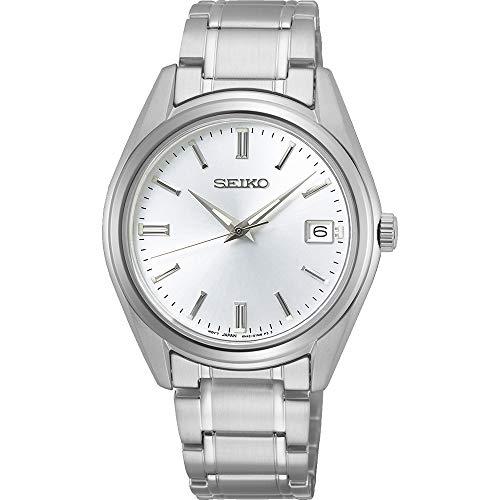 SEIKO Dames analoog kwarts horloge met roestvrij stalen armband SUR315P1