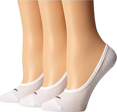 Nike Women's 3PPK Lightweight Socks - White/Black,Small (EU 34-38)