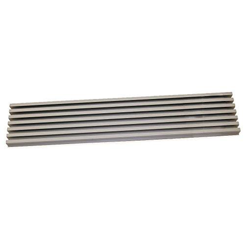 Emuca 8934869 Rejilla de Ventilación para Frigorífico/Horno, Aluminio anodizado acero inoxidable