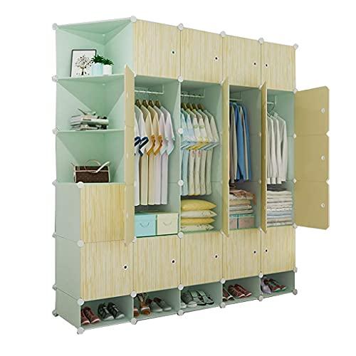 XIAOJUAN Closet Casual Wardrobe Locker Shoes-bit Holding Organizing Almacenamiento de plástico con las estantes de la esquina de la ropa Dormitorio de la ropa Dormitorio del hogar (Tamaño: 18 3X47X201