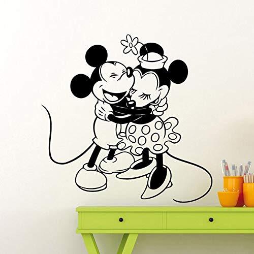 Anime dibujos animados ratón etiqueta de la pared ratón creativo dibujos animados vinilo calcomanía hogar niños jardín de infantes decoración interior pareja habitación mural lindo