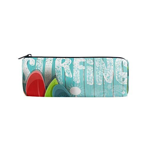 Bonipe Federmäppchen aus Holz, für den Sommer, Skatboard, Surf, für Schule, Schreibwaren, Stifte, Box, Reißverschluss