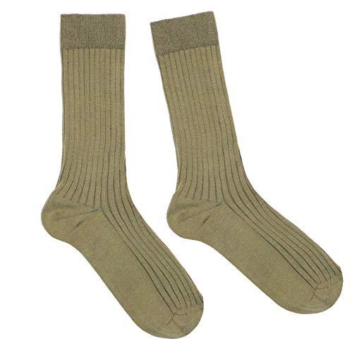 Weri Spezials Damen Socken Casual Rippe aus Baumwolle in mehreren Natur Farben (39-42, Oliv)