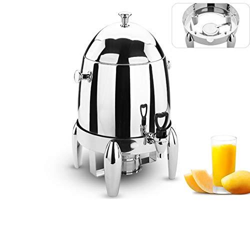 HXPP Edelstahl-Kaffee Tripod Buffet Getränk Maschine kaltes Getränk Maschine Isolierung Sojamilch Milch Barrel Saft Tripod Heizung (Color : Stainless Steel)