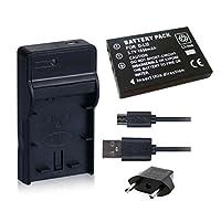 NinoLite 3点セット D-LI2 互換 バッテリー +USB型 充電器 +海外用交換プラグ 、ペンタックス Pentax 対応 dc29dli2_t.k.gai