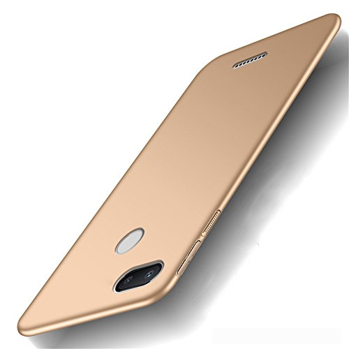 XunEda Funda Xiaomi Redmi 6A 5.45 Ultra-Delgada Antideslizante Mate Acabado PC Funda Protectora Dura Carcasa para Xiaomi Redmi 6A Smartphone Smartphone(Oro)