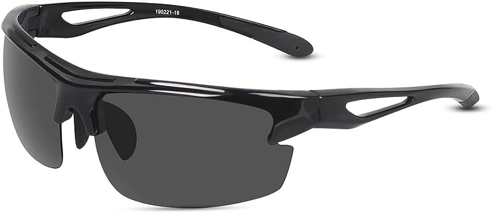 Herren Sportbrille, Polarisierte Sonnenbrille Fahrradbrille mit UV400 Schutz, Sport Sonnenbrille Radfahren Autofahren Fischen Laufen Wandern Golf für Herren Damen